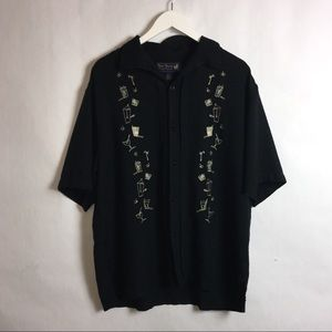 Nat Nast Men's Silk Limited Edition Shirt Large